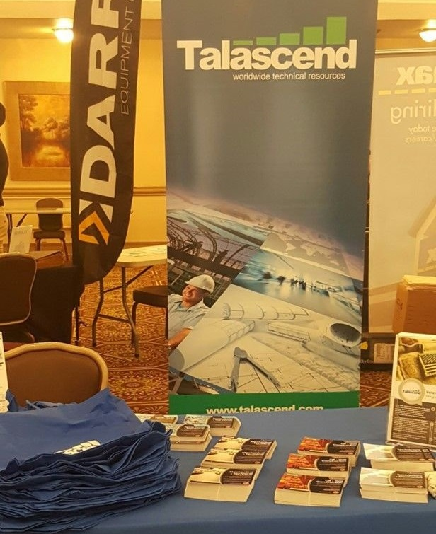 Talascend's booth at the Fort Hood career fair